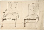 Designs for an Armchair and Side Chair
