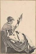 Bolognese Peasant Girl with a Distaff