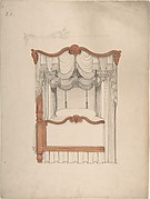 Design for a Four-poster Bed with Draperies