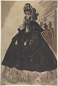 A Lady in a Bonnet and Coat