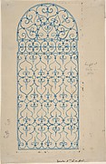 Wrought Iron Gate Design (recto), Sketches for Bracket (verso)