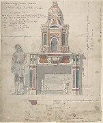 Design for a Chimneypiece Made from an Old Altarpiece