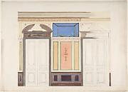 Design for Wall Elevation, Hôtel Candamo