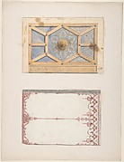 Designs for Ceiling and Wall Decoration for Monsieur Lecomte de la Grange