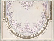 Design for Ceiling of the Duchess of Newcastle's Petit Salon, Hôtel Hope