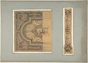 Two Designs for Ceiling with Putti and Allegorical Figures of the Arts