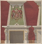 Design for Chimney Piece, Château du Duc de Meternick, Johannisburg