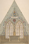 Design for Altar and Chapel, Farnborough