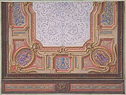 Design for Ceiling of Grand Salon, Hôtel Hope