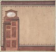 Pompeiian Design for Wall and Doorway