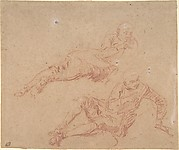 Two Studies of Reclining Youth