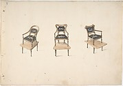 Design for Three Small Elevated Armchairs
