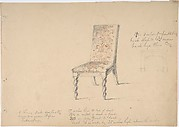 Design for a Chair with Turned Front Legs