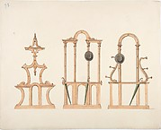 Design for Three Hat and Umbrella Stands