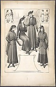Designs for Four Women's Ensembles (Three with Veils)