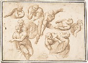 Group of Figures Copied from Michelangelo's Last Judgment