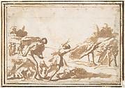 Unidentified Scene:  Figures in a Landscape