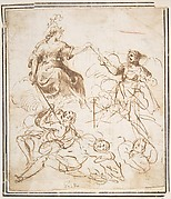 Group of Five Allegorical Figures