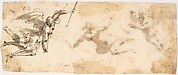 Four Flying Angels (recto); Two Flying Figures (verso)