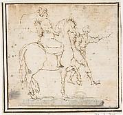 Man on Horseback with Attendant