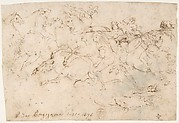 Cavalry Engagement (recto); Concert of Angels (verso)