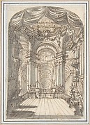 Perspectival Sketch for a Palace Interior.