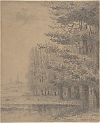 Landscape (A Grove of Trees Standing Near a River)