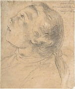 The Upturned Head of a Young Boy in Profile