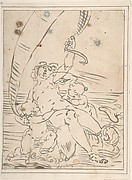 Arion and Two Cupids on a Dolphin