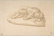 Copy after a Sculpture of the Sleeping Eros Based on an Antique Model (from Cassiano dal Pozzo's 'Paper Museum')