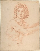 Half-Figure of a Youth with His Right Arm Raised