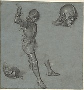 Studies of a Seated Youth in Armor