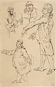Studies of Four Englishmen, after James Gillray