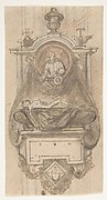 Design for a sepulchral monument with a portrait bust