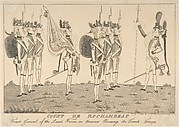 Count de Rochambeau, French General of the Land Forces in America Reviewing the French Troops
