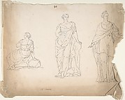 Studies of Female Statues