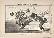 Un Coup de Vent non Prédit par Mathieu (de la Drôme), Plate 1 of Croquis d'Hiver, published in le Petit Journal pour rire