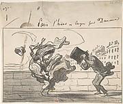 Un Coup de Vent non Prédit par Mathieu (de la Drôme), Plate 1 of Croquis d'Hiver