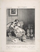 Mon dieu! Si j'allais faire un enfant à tête de Poire, published in La Caricature no.118, February 7, 1833