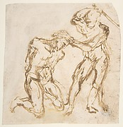 Beheading of a Kneeling Nude Man