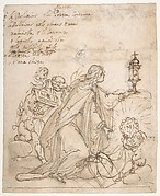 Religion Kneeling before a Monstrance, Attended by Putti