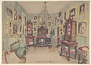 Drawing of an Interior: Cabinet du Salon