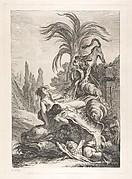 The Frightened Naïad (Une naïade échevelée recule d'efroi à la vue d'un lion)