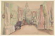 Drawing of an Interior: Bedroom