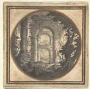 Imaginary Landscape with Classical Ruins