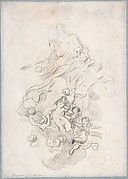 The Assumption of the Virgin (recto); Architectural Notations (verso)