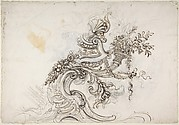 Design for a Ceiling Decoration (recto); Daphne Pursued by Apollo (verso)
