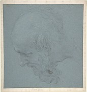 Head of a Bearded Man Looking to Upper Left