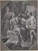 Manius Curius Dentatus Refusing the Presents of the Samnite Ambassadors