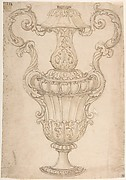 Design for a Two-Handled Urn with Acanthus, Shell, and Egg-and-Tongue Motif.